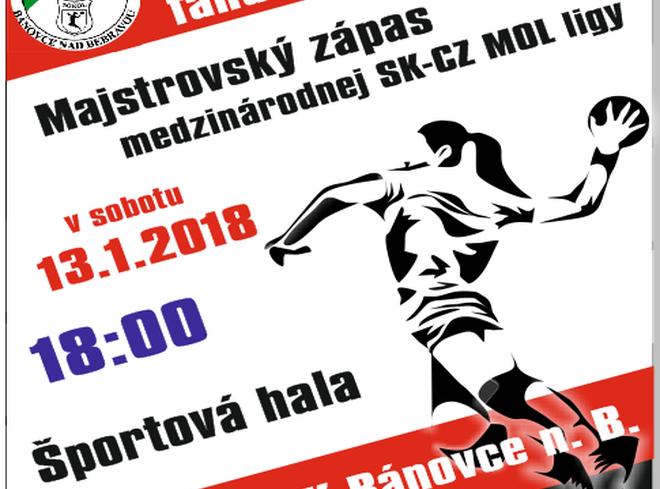 Hádzaná + prenos: HK Sokol Bánovce - Duslo Šala, 13.1.2018